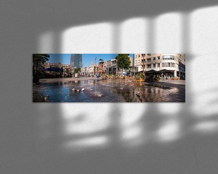 Sfeerimpressie: Grote markt in de zon Almere van Brian Morgan
