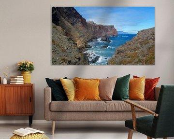 Panorama van de Atlantische kust van Madeira van Hans-Heinrich Runge