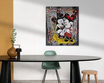 Minnie und Micky Maus - Pop von Kathleen Artist Fine Art