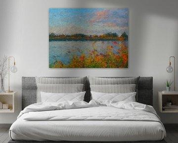 Impressionistisch natuur tafereel van Greta Lipman