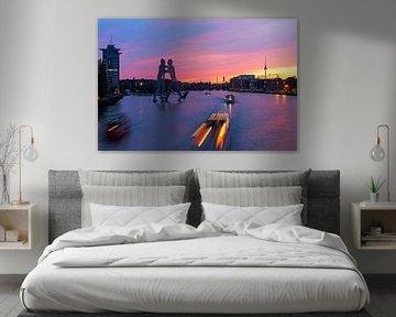 Berlin Mediaspree Skyline zum Sonnenuntergang