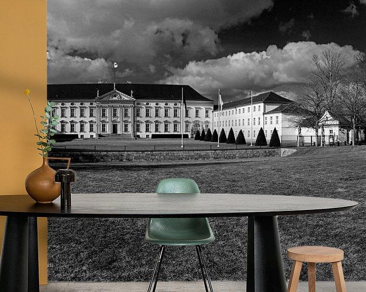 Sfeerimpressie behang: Schloss Bellevue Berlijn met historisch brandalarm van Frank Herrmann