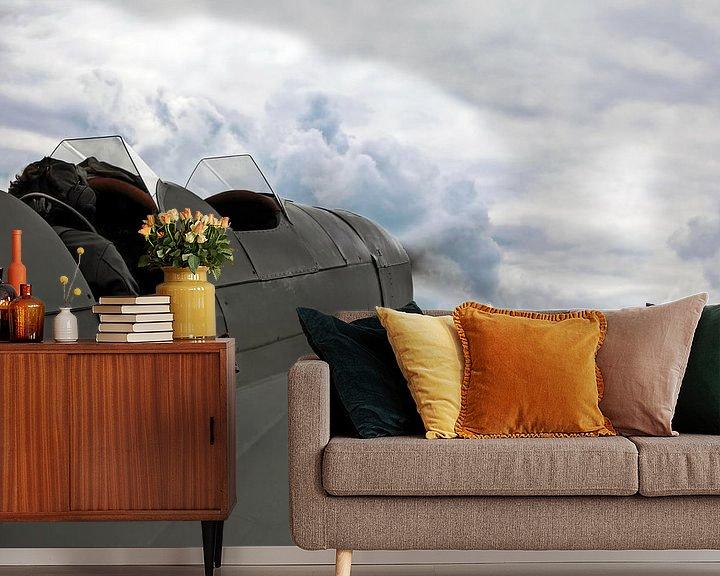 Impression: Un avion à moteur historique dans le ciel sur Frank Herrmann