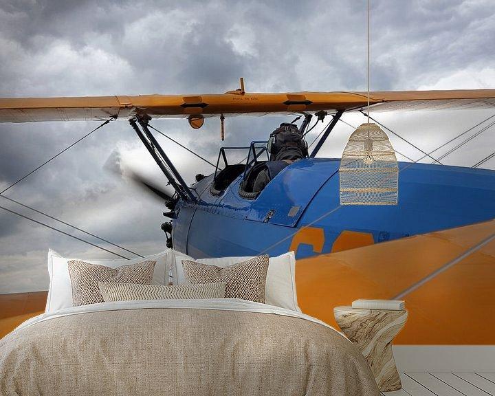 Impression: Un biplan historique en vol sur Frank Herrmann