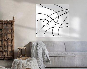 abstrakte geomagnetische Arbeiten von Emiel de Lange