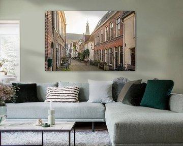 Straatbeeld in Weesp van Dirk van Egmond