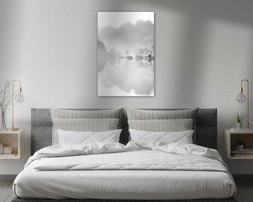 High Key Minimalistisch Meer met Weerspiegeling van Art By Dominic