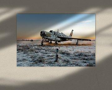 Schönes Flugzeug mit der Morgensonne von William Linders