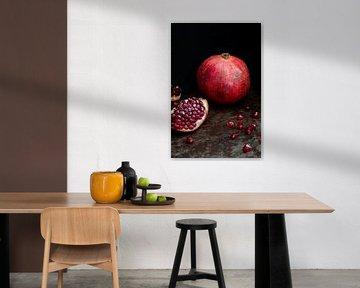 Stilleven met granaatappel l Food fotografie van Lizzy Komen