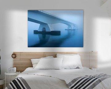 Zeeland bridge in the mist van Paul Begijn