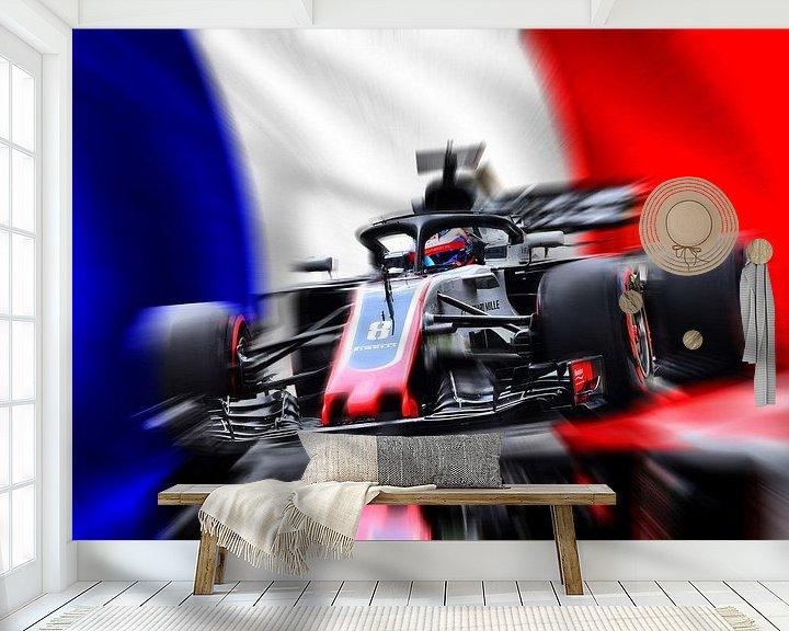 Beispiel fototapete: Romain Grosjean von Jean-Louis Glineur alias DeVerviers