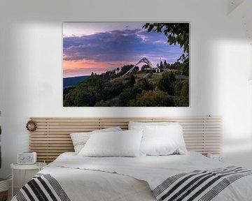 Avondsfeer bij de St. Georgische schans in Winterberg van Deimel Fotografie