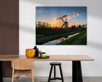 Zonsondergang bij Babbersmolen Schiedam van Kok and Kok