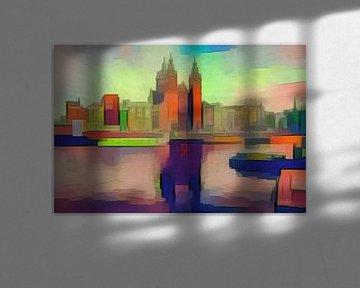 Verrassend kunstwerk van Amsterdam: Kubisme bij het Centraal Station van Amsterdam