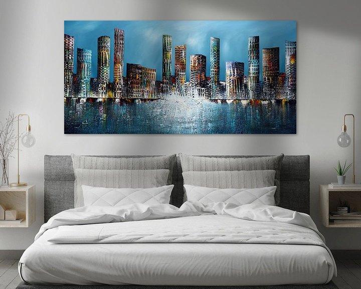 Beispiel: Blaue Skyline von Gena Theheartofart