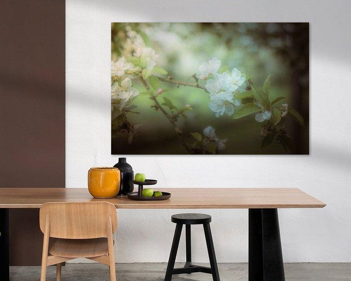 Sfeerimpressie: Tak van een appelboom met bloesem van Jille Zuidema