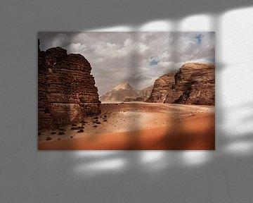 Rote Sanddünen in Wadi Rim, Jordanien von Melissa Peltenburg