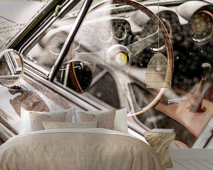 Sfeerimpressie behang: Ferrari 250 GT Berlinetta Lusso klassieke Italiaanse GT interieur van Sjoerd van der Wal
