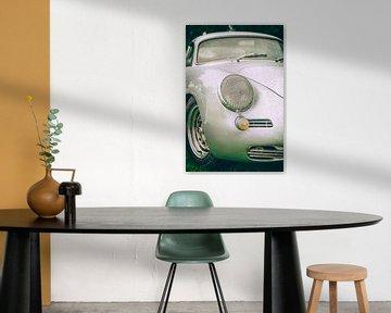 Porsche 356 klassieke jaren '50  sportwagen voorzijde