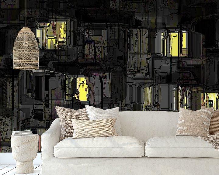 Beispiel fototapete: Stadtkunst, Nachtsicht. von SydWyn Art