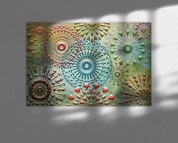 Collage-Mandala von Rietje Bulthuis