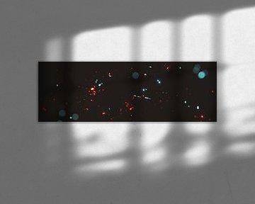 Bokeh Lichter in Cyan und Rot Farbgebung von Besa Art