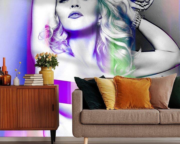 Beispiel fototapete: Madonna Wahrheit oder Nackt wagen Abstraktes Lila Rosa von Art By Dominic