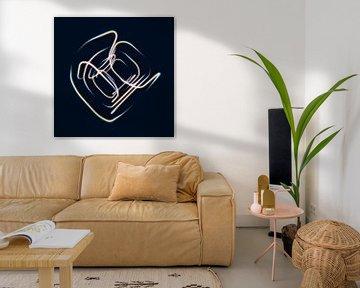 Abstracte lichtlijnen van Jörg Hausmann