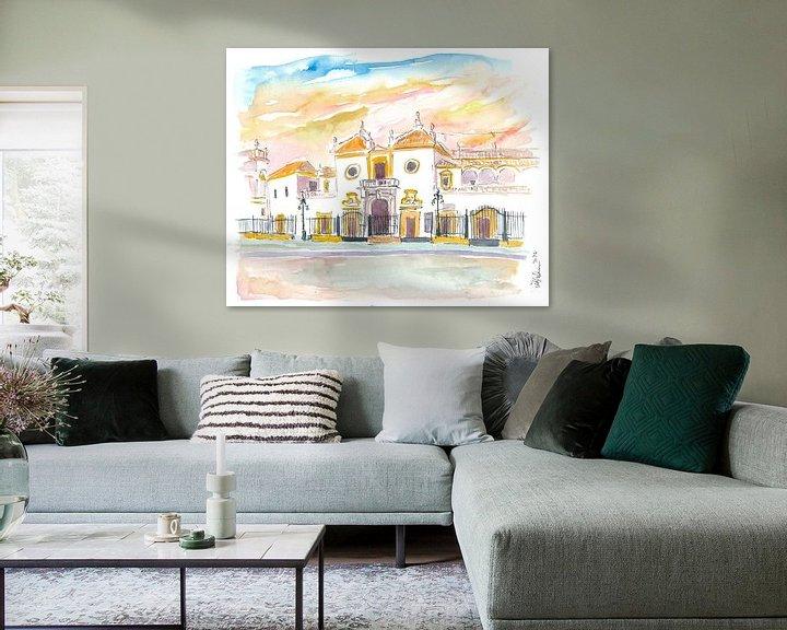 Beispiel: Sevilla Plaza De Toros Maestranza In Andalusien Spanien von Markus Bleichner