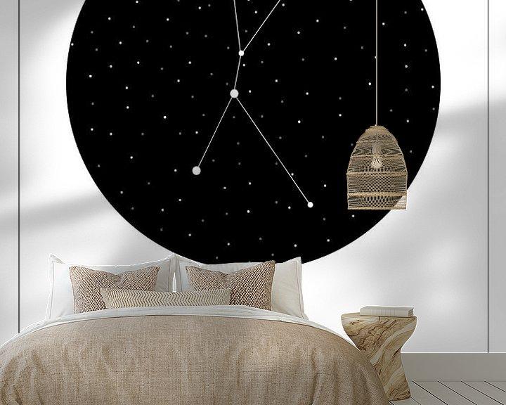 Beispiel fototapete: Sternbild Hummer, Englisch von Nynke Altenburg