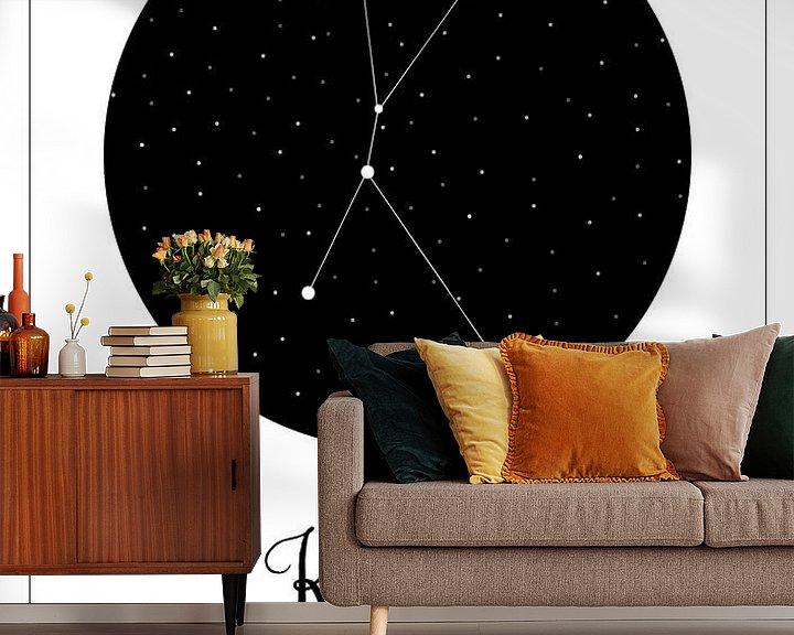 Beispiel fototapete: Sternbild Hummer, niederländisch von Nynke Altenburg