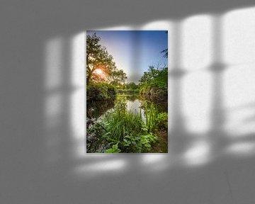 Lever de soleil sur le domaine de Wamberg, Berlicum sur Marcel Bakker