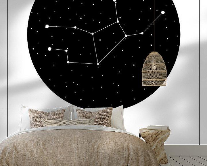 Beispiel fototapete: Sternbild Jungfrau, niederländisch von Nynke Altenburg