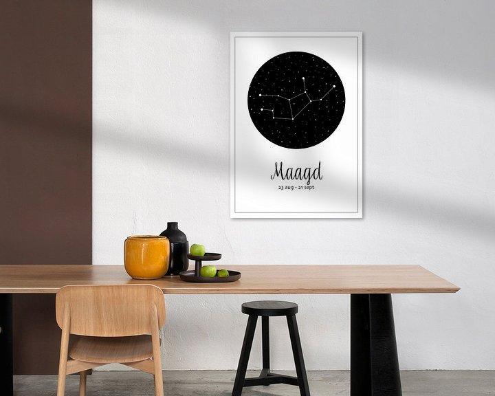 Beispiel: Sternbild Jungfrau, niederländisch von Nynke Altenburg