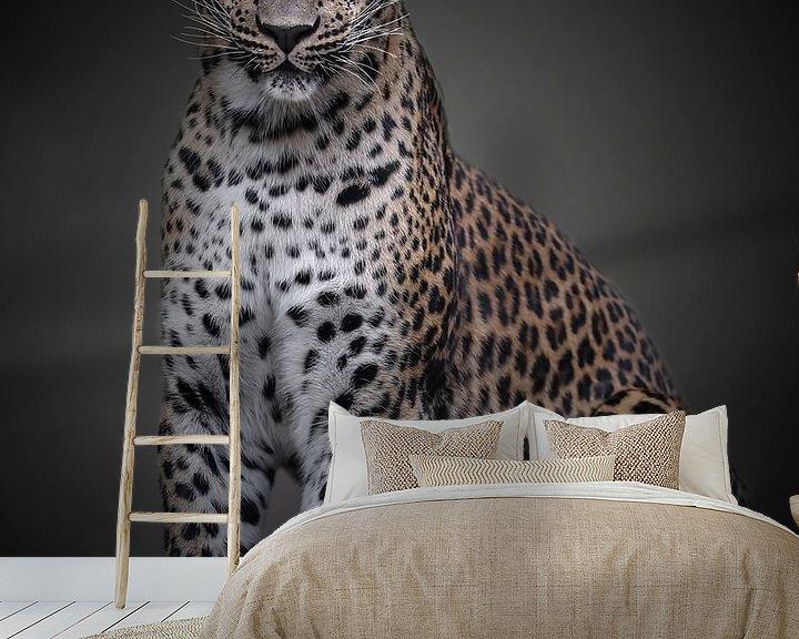 Beispiel fototapete: Panther mit einer Haltung von ilona van Bakkum