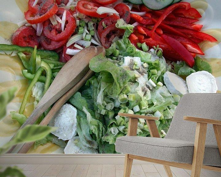 Sfeerimpressie behang: Eet smakelijk  van Margo Schoote