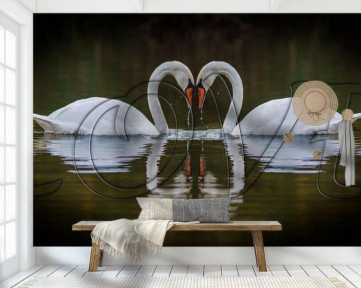 Sfeerimpressie behang: Love van Pieter van Roijen