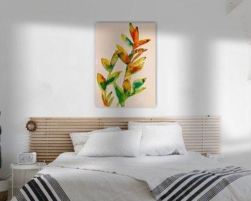 Orangetöne von Helia Tayebi Art