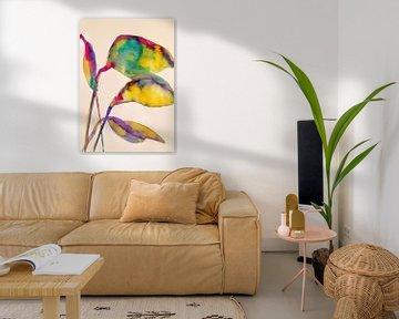 Mehrfarbige Blätter von Helia Tayebi Art