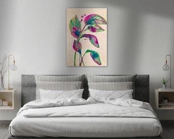 Spritzer Violett von Helia Tayebi Art