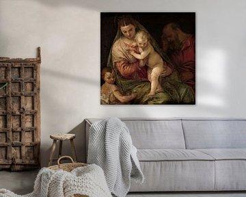 Heilige Familie mit dem jungen Heiligen Johannes, Paolo Veronese (Workshop von)
