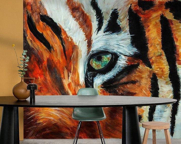 Beispiel fototapete: Tigerauge von Eye to Eye Xperience By Mris & Fred