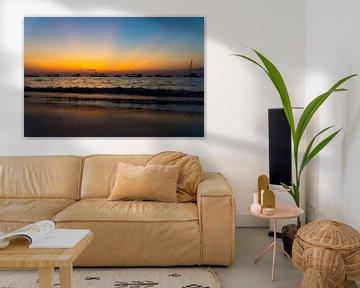 Sonnenuntergang Sansibar von Gerwin Hoogsteen