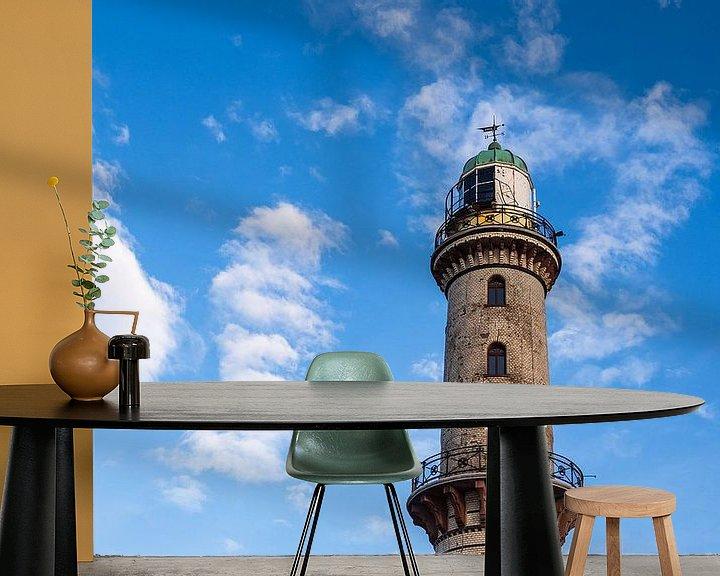 Beispiel fototapete: Blick auf den Leuchtturm im Ostseebad Warnemünde von Rico Ködder