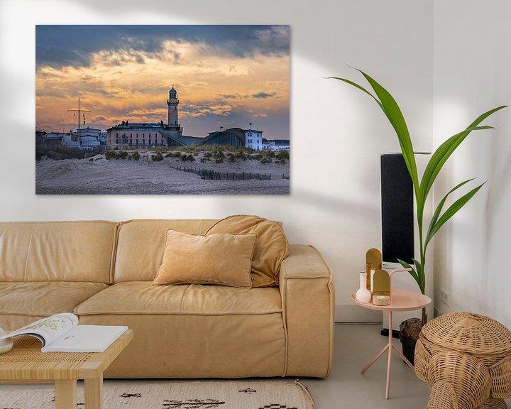 Beispiel: Blick auf den Leuchtturm im Ostseebad Warnemünde von Rico Ködder