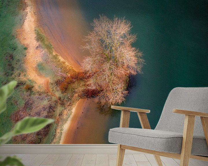 Sfeerimpressie behang: Boom op de rand van Ruud Peters