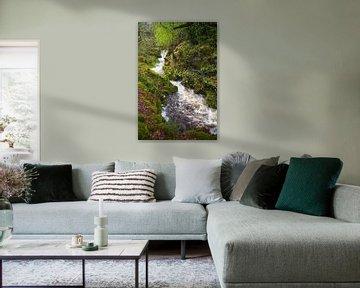Snelstromende rivier op Arran van Johan Zwarthoed