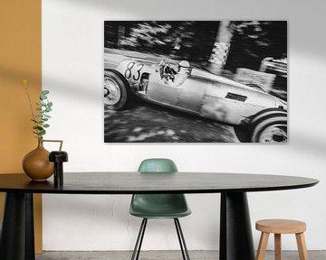 Auto Union Grand Prix Rennwagen Typ C V16 Silberpfeil fährt schnell von Sjoerd van der Wal