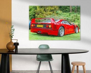 Ferrari F40 supercar in rood achteraanzicht van Sjoerd van der Wal