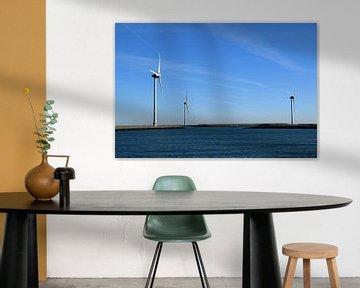 Windmühlen zur Erzeugung erneuerbarer Energie in der Provinz Zeeland von Robin Verhoef